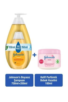 Johnson´s Baby Johnson's Baby Şampuan 750+200 Ml + Hafif Parfümlü Bebek Vazelini 100 Ml