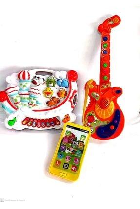 berattoys Üç Ürün Birarada Türkçe Sesli Işıklı Müzikli Gitar&telefon&piyano