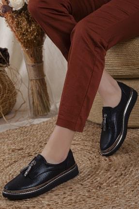 Odal Shoes Kadın Siyah Oxford Spor Ayakkabı Püsküllü05012020