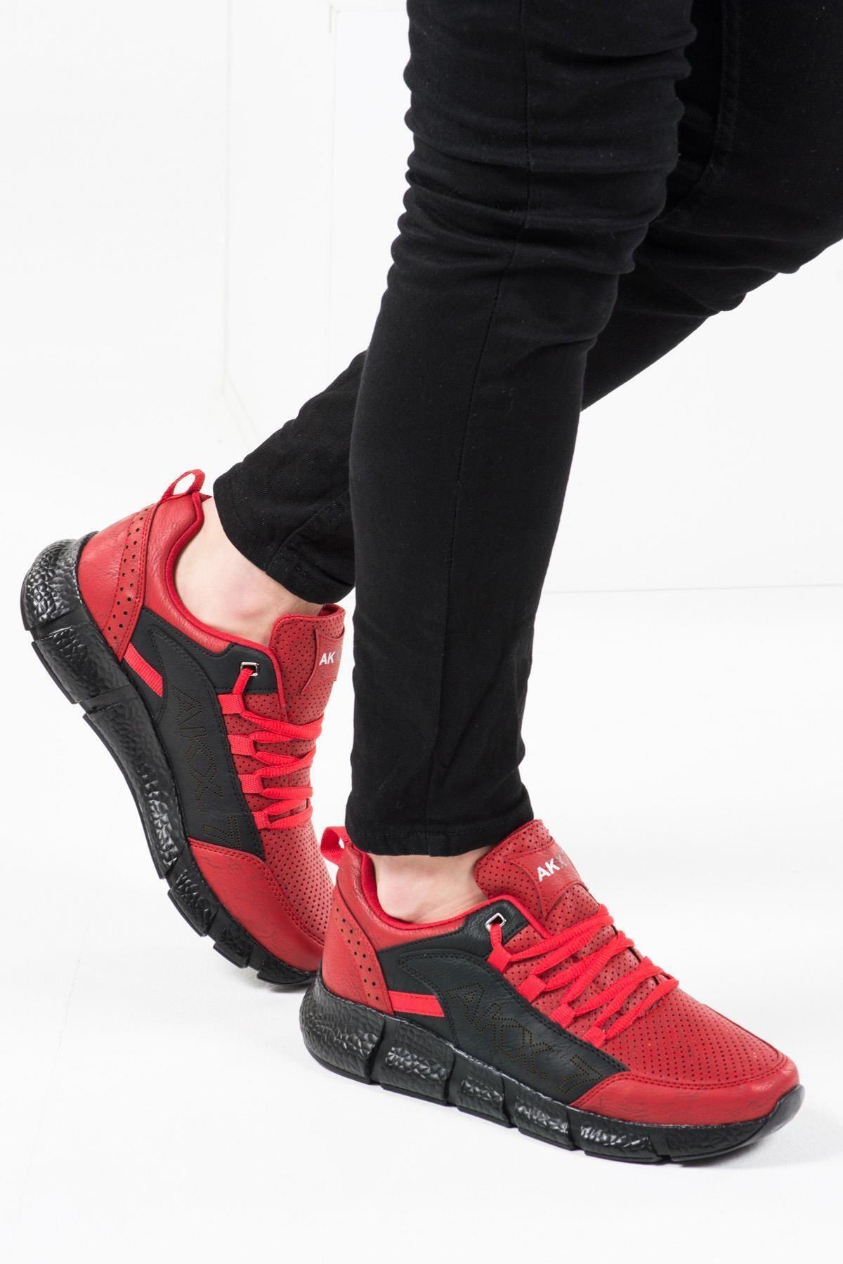L.A Polo 021 Kırmızı Siyah Erkek Spor Ayakkabı 2
