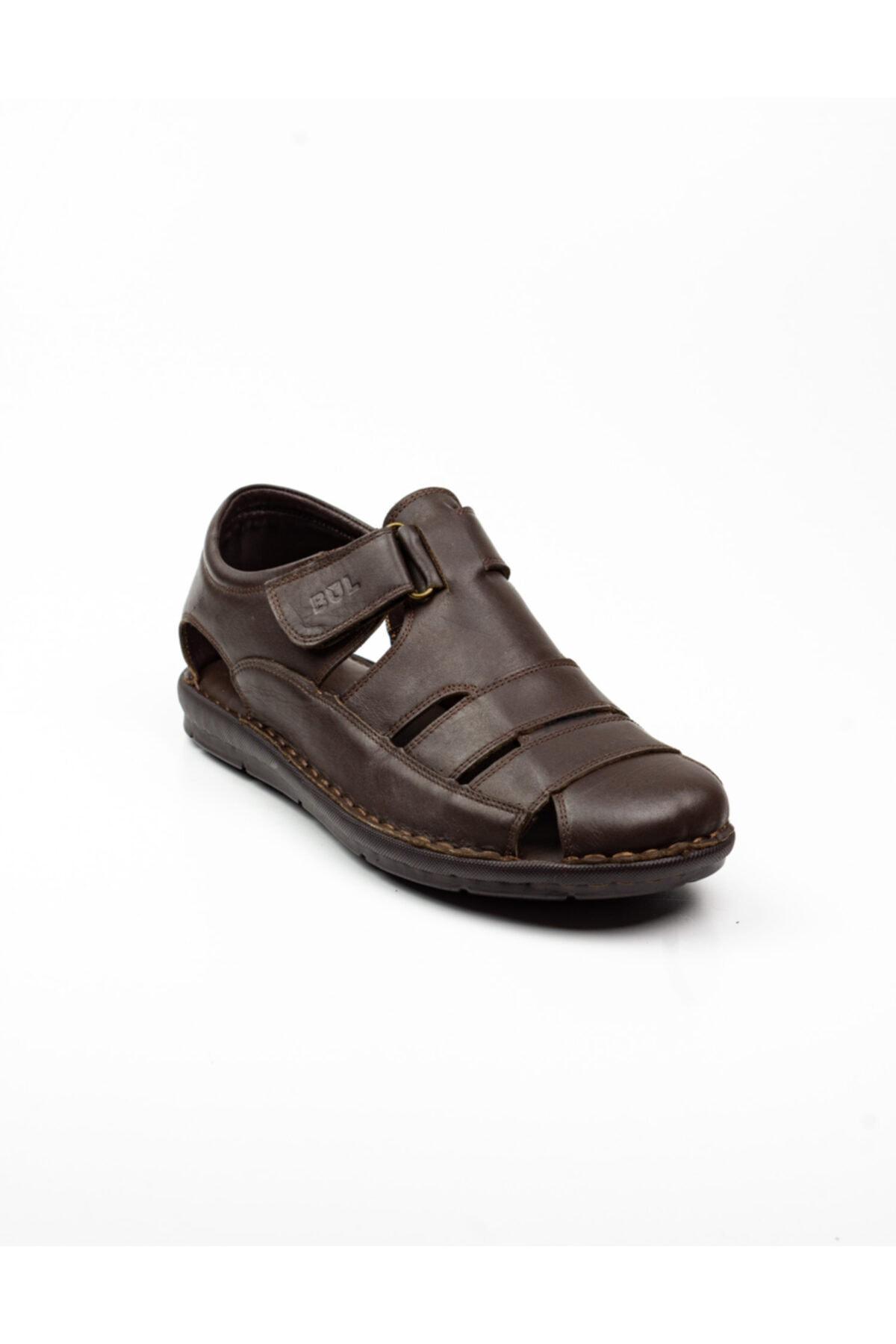 Bulldozer Erkek  Kahverengi Deri Sandalet -41 1