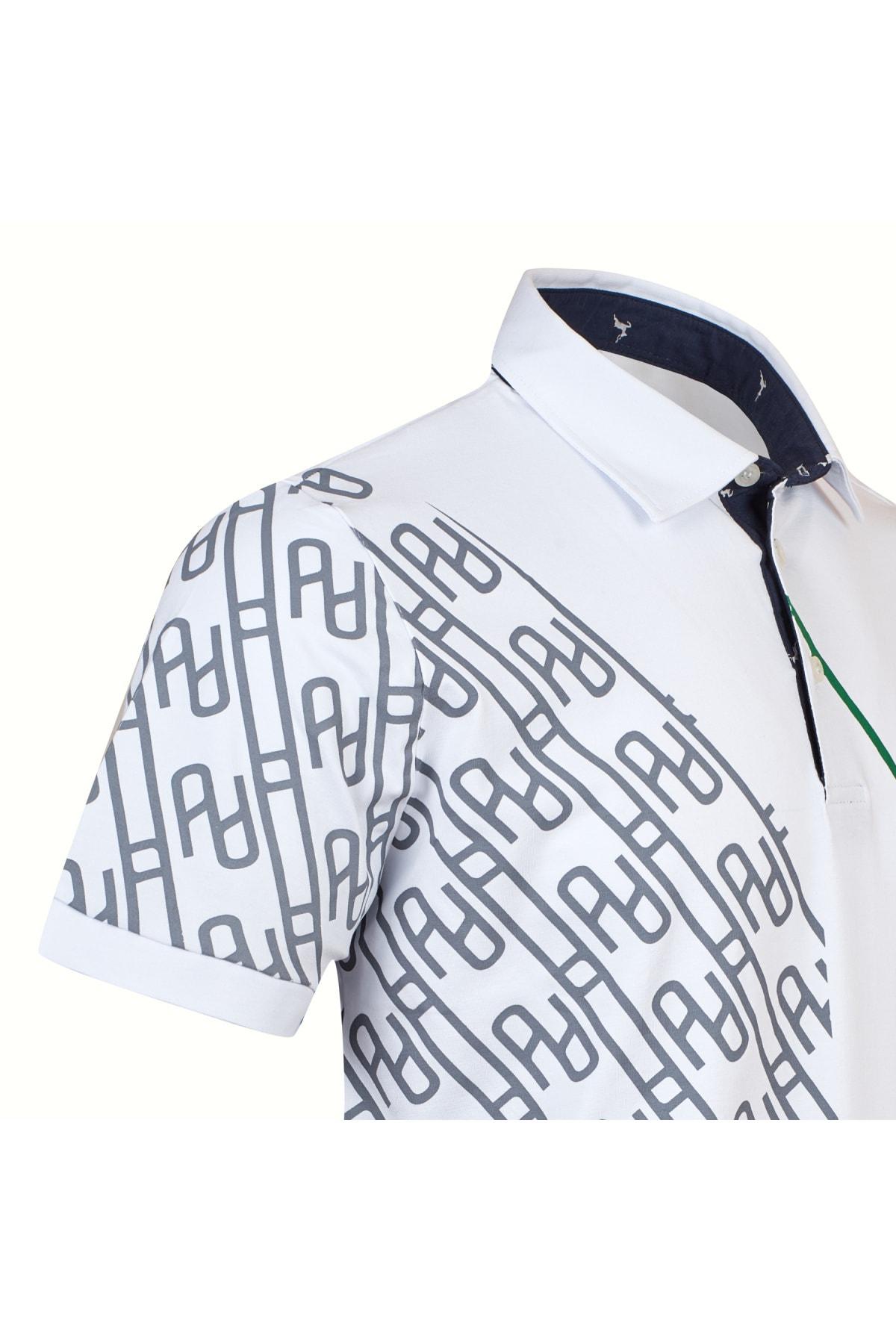 LAYYAGOSTA Erkek Beyaz Polo Yaka T-shirt 2