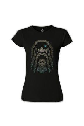 Lord T-Shirt Kadın Vikings - Odin Siyah  Tshirt