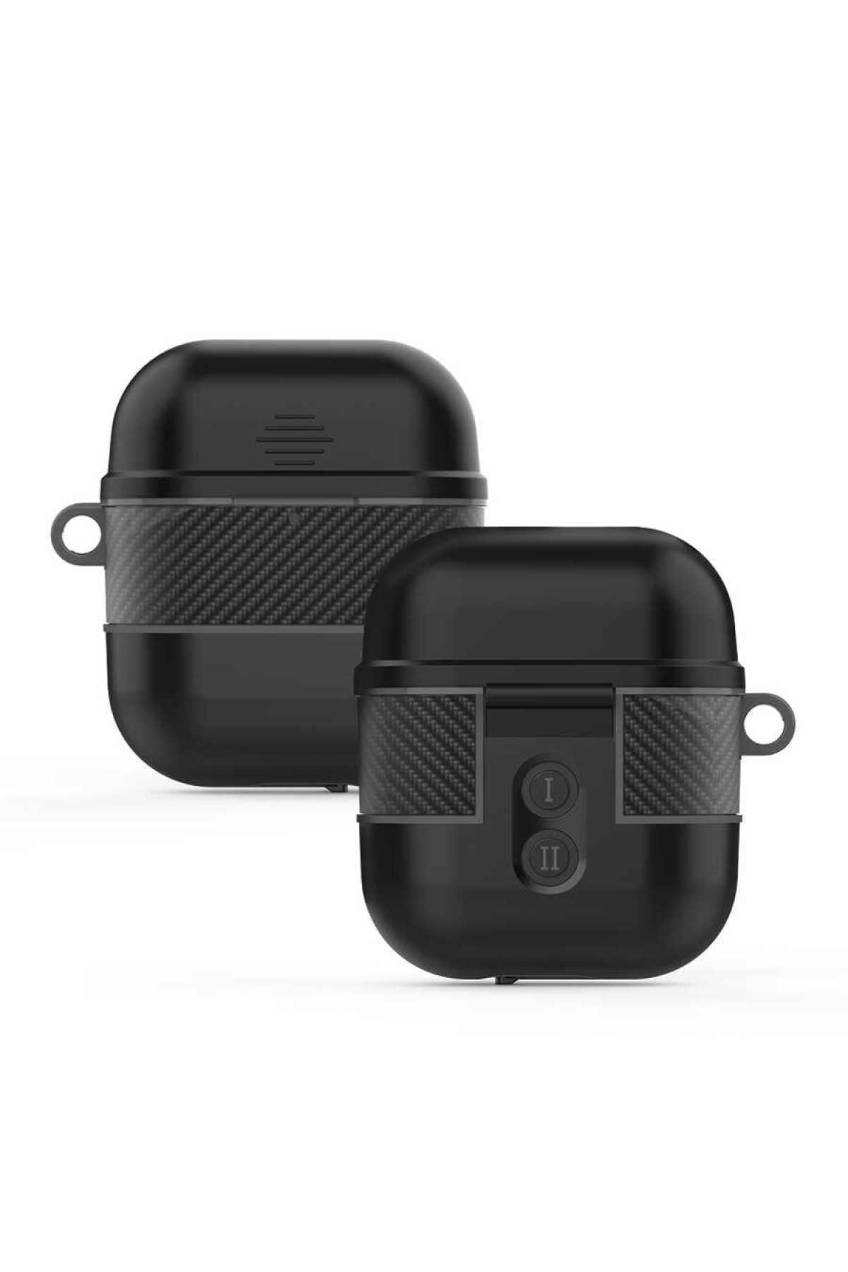 zore Apple Airpods Kılıf Airbag 16 Zırh Su Geçirmez Askılı Şarj Kutusu Koruyucu 2