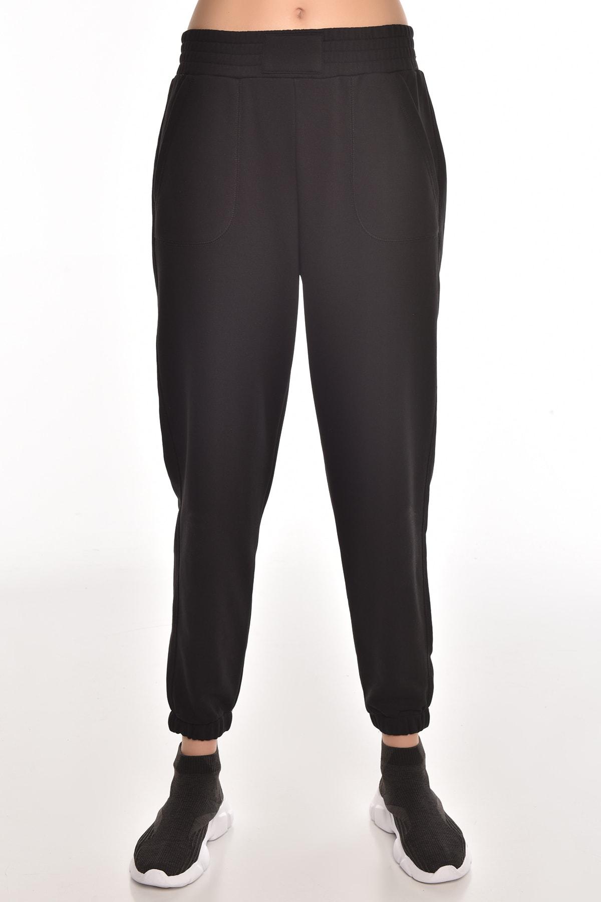 bilcee Siyah Kadın Jogger Eşofman Altı Gw-8999 1