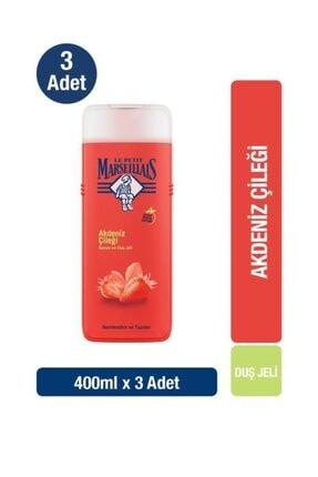 Le Petit Marseillais Duş Jeli Akdeniz Çileği 400ml X3