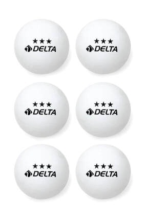 Delta 6 Adet Beyaz Masa Tenisi Topu ( Pinpon Topu )