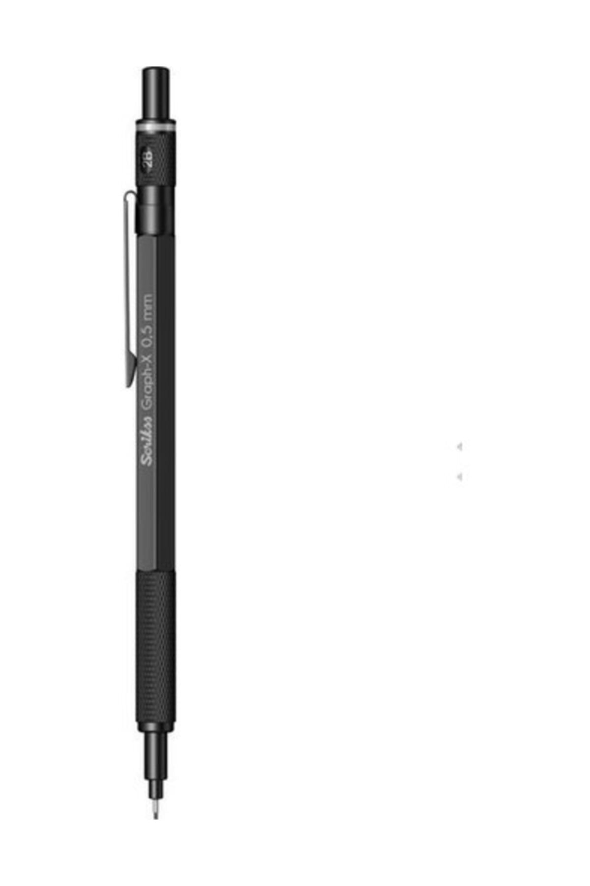 Scrikss Graph-x Metal Versatil Kalem 0.7 Mm Mat Siyah 2