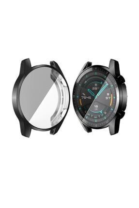 Ally Huawei Watch Gt 2 46mm 360 Koruma Ultra Ince Silikon Kılıf - Siyah