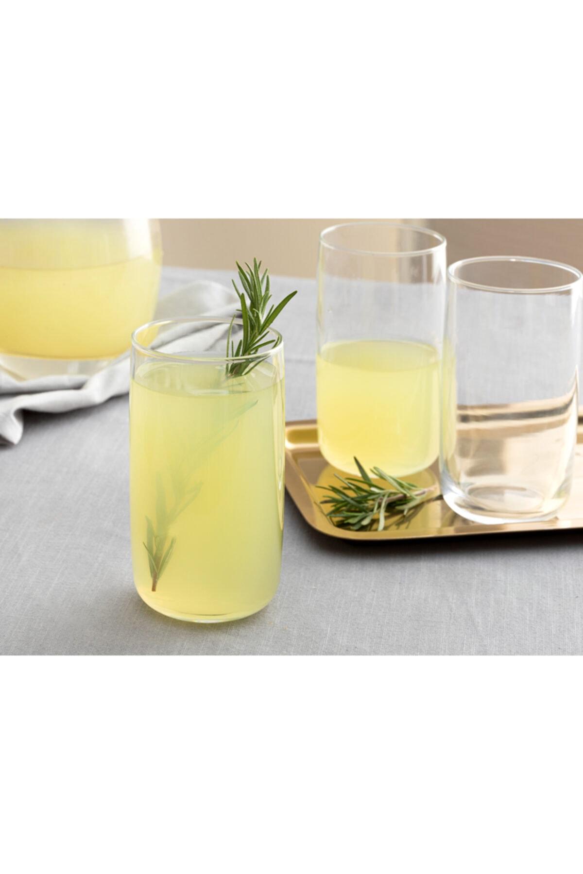 English Home Şeffaf Sare Cam 3'lü Meşrubat Bardağı 365 ml 1