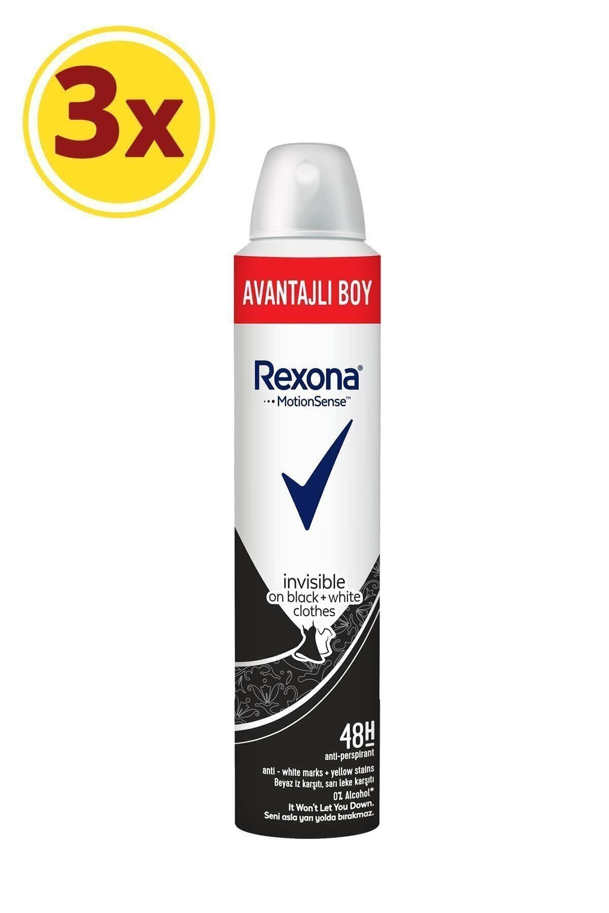 Rexona Kadın Deodorant Sprey Invisible Black + White 200 ml X3 2