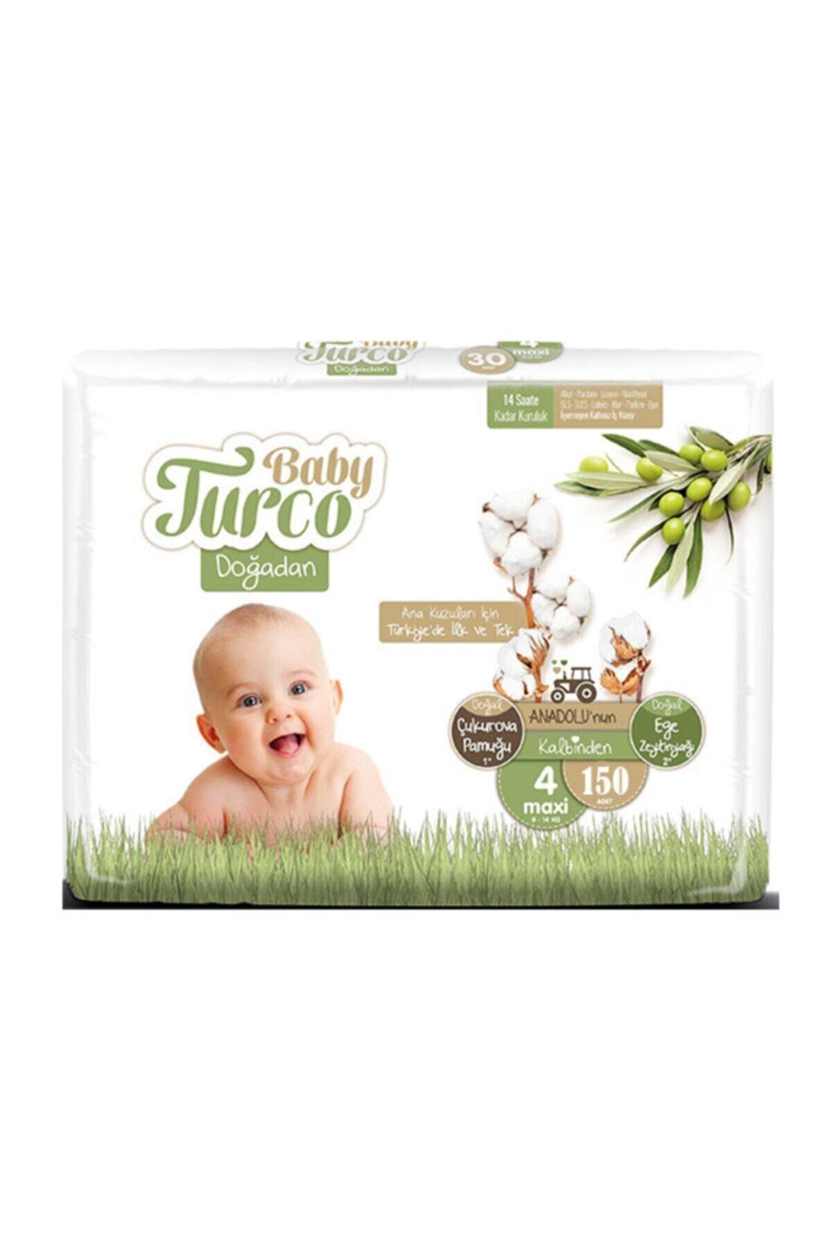 Baby Turco Doğadan 4 Numara Maxi 150 Adet 8-14 Kg 1