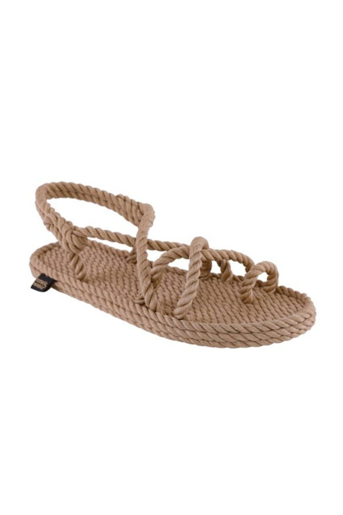 Nomadic Republic Ibiza Kadın Halat Sandalet - Bej 1