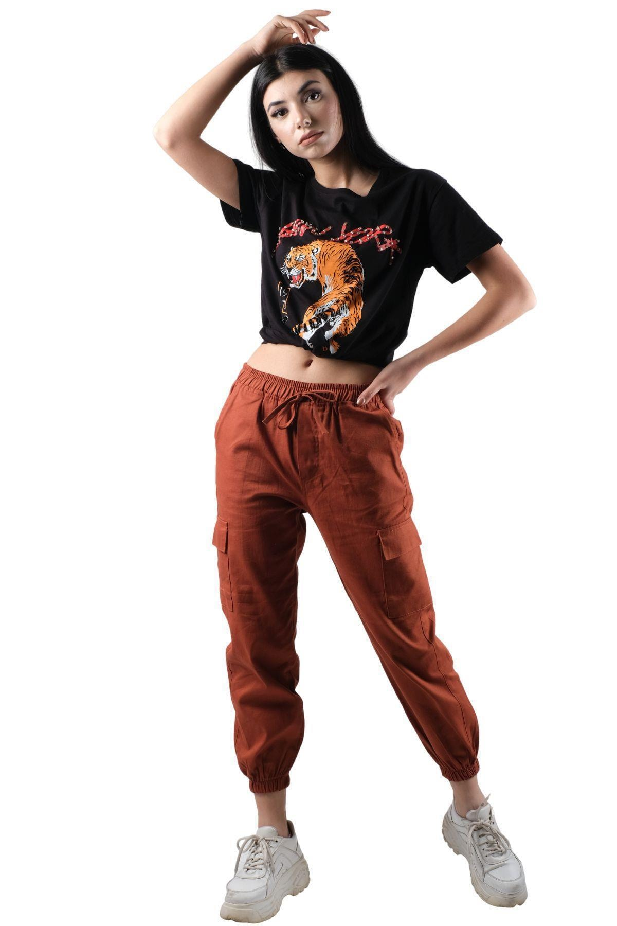 ŞİMAL Beli Paçası Lastikli Kargo Pantolon 2