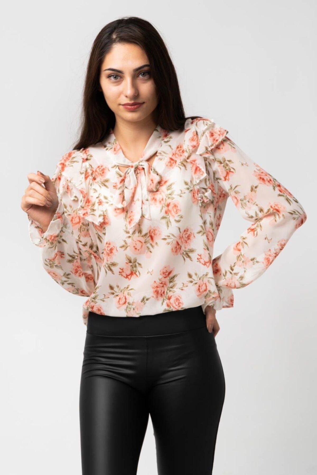 CNS Çiçek Desenli Bluz 1