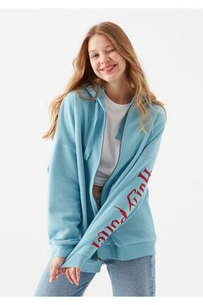 Mavi Kadın Harry Potter Baskılı Lisanslı  Sweatshirt 1600797-33497