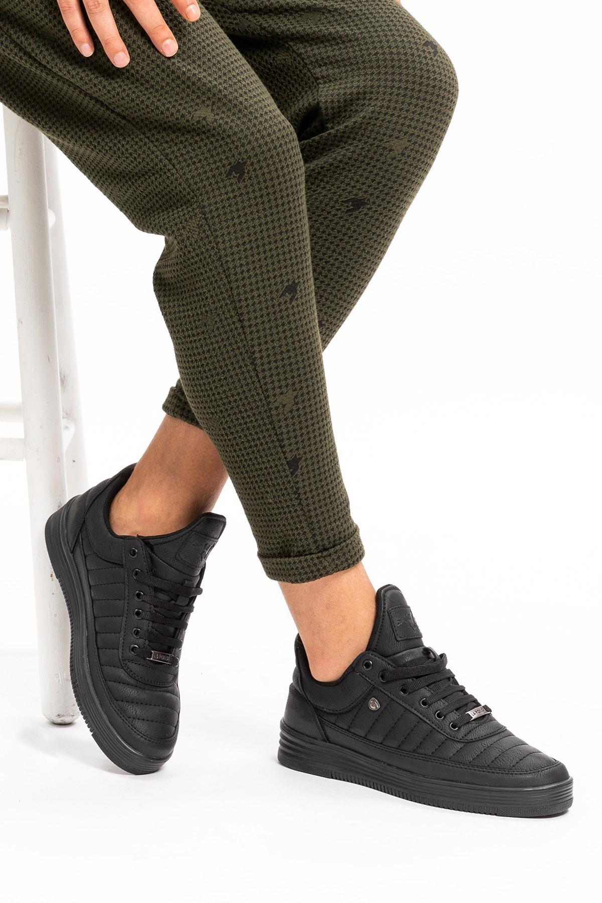 L.A Polo Erkek Siyah Sneaker Spor Ayakkabı 07 2