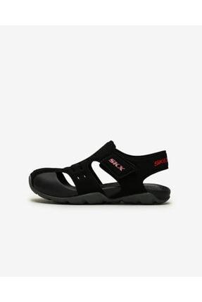 SKECHERS SIDE WAVE Büyük Erkek Çocuk Siyah Sandalet