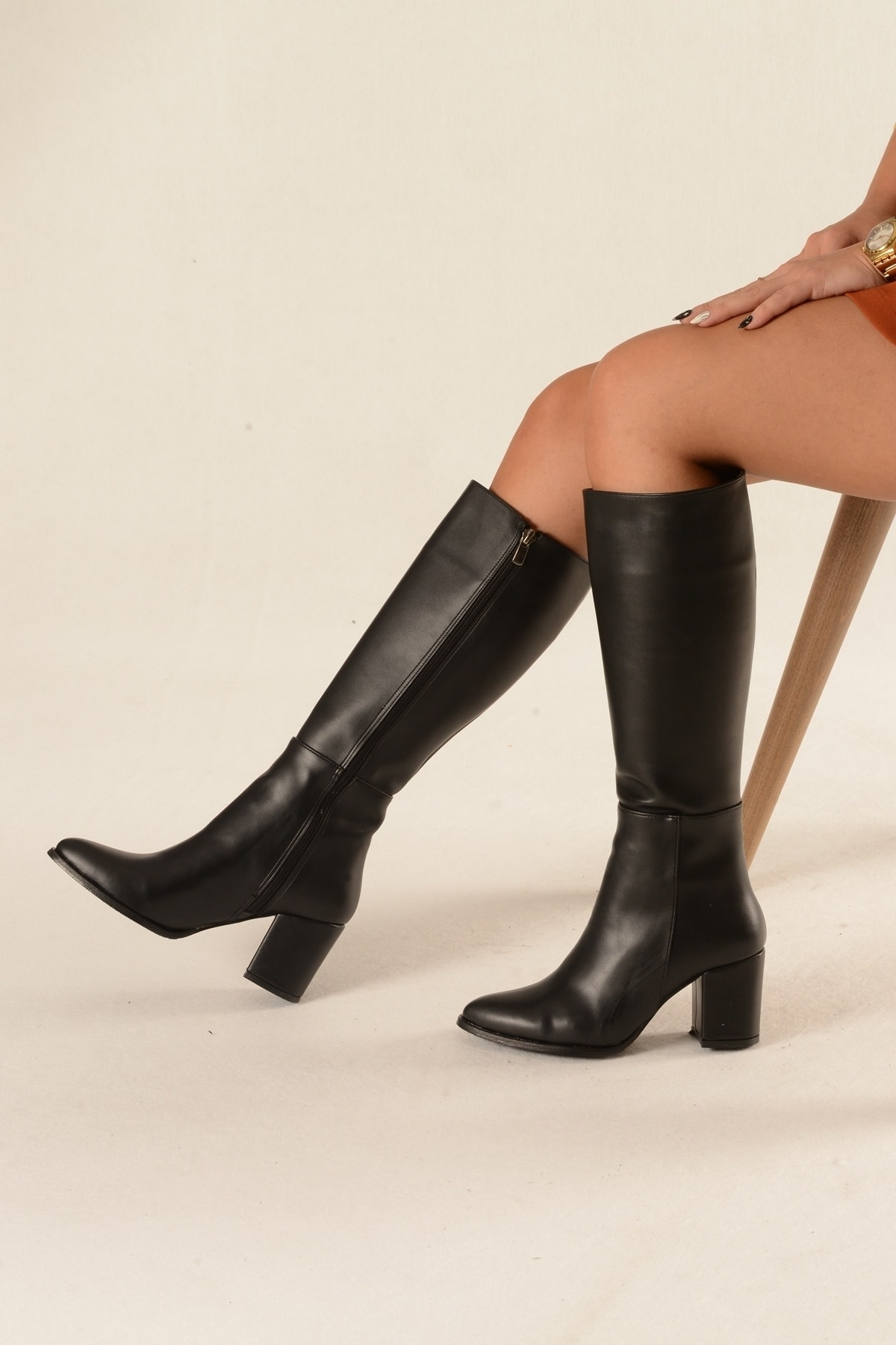 Nil Shoes Siyah Cilt Çizme - Morin 2