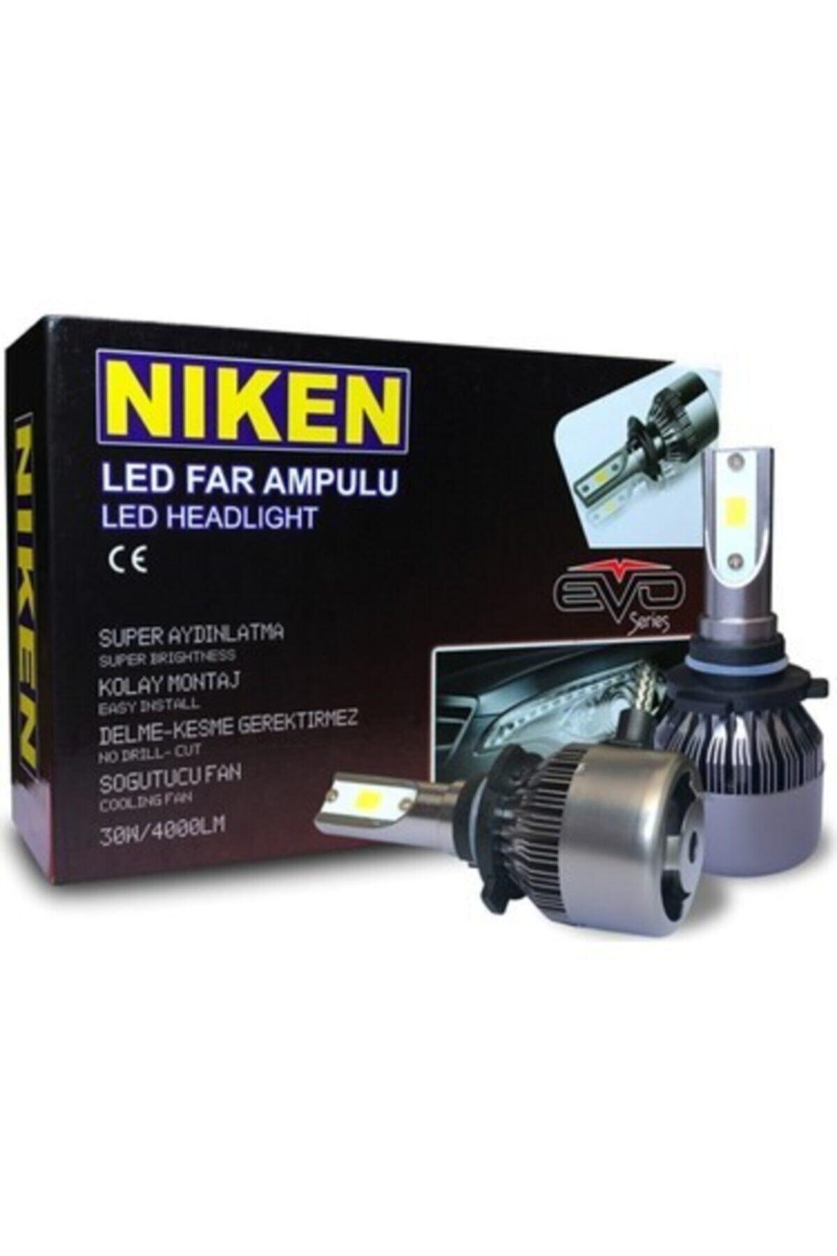 Niken H7 Led Xenon Evo Seri 4000 Lümen 6000k Beyaz Şimşek Etkili 1