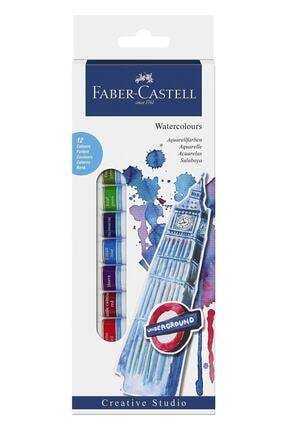 Faber Castell Watercolours Tüp Sulu Boya 12 Renk X 12 ml