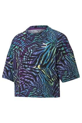 Puma Kadın Tişört Cg Crew Byzantium - Çok Renkli
