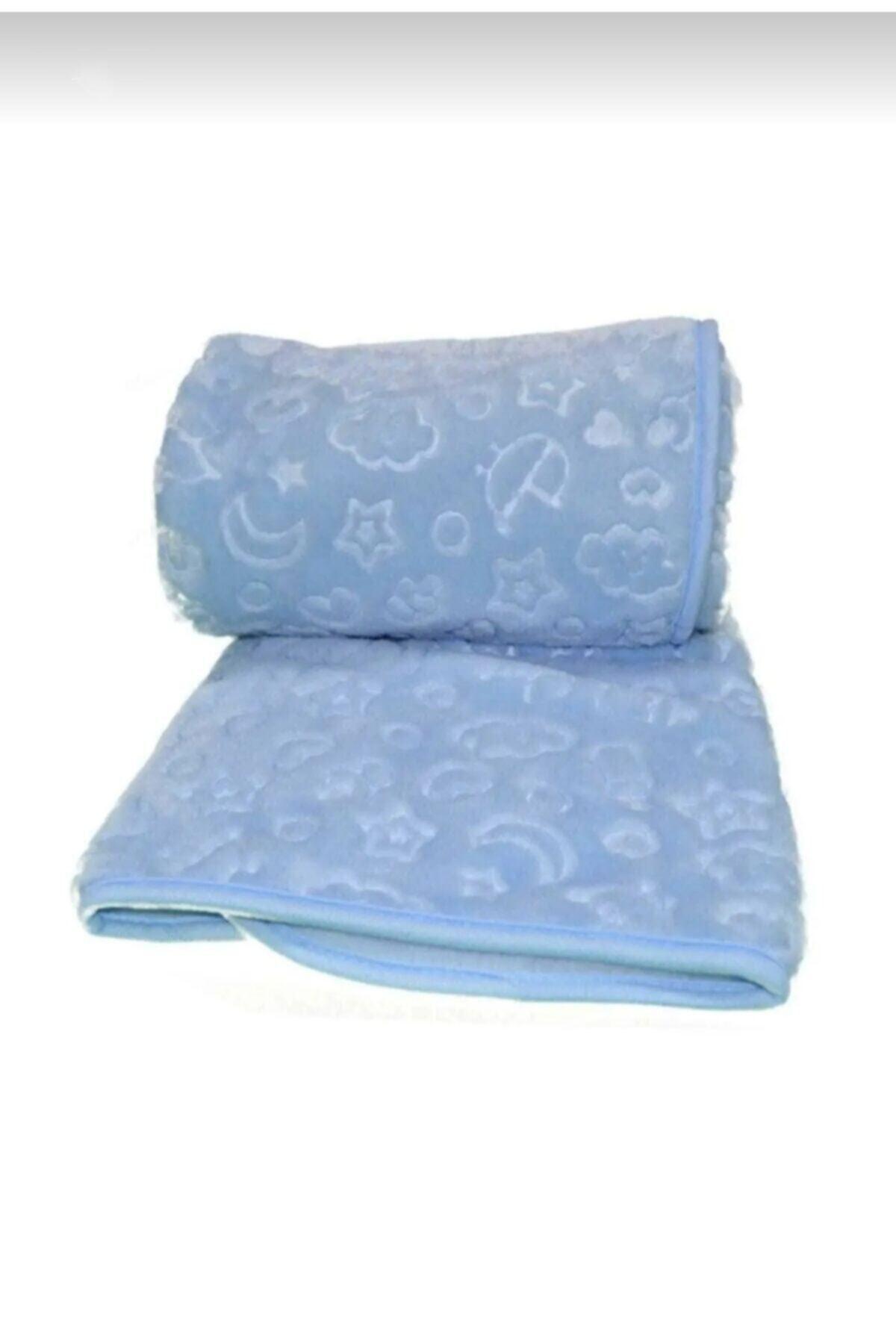 Özdilek Embos Bebek Battaniyesi Kabartmalı - Mavi - Kutu Ambalajlı 1