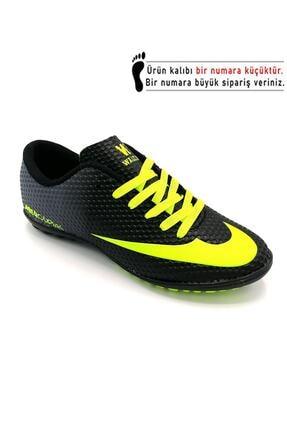 Walked Siyah Futbol Halısaha Ayakkabısı
