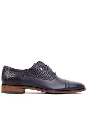 MARCOMEN - Lacivert Lazer Erkek Klasik Ayakkabı