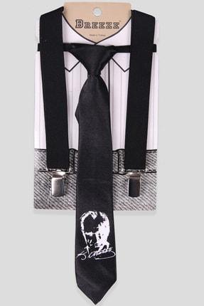 Breeze Erkek Çocuk Siyah Kravatlı Pantolon Askısı