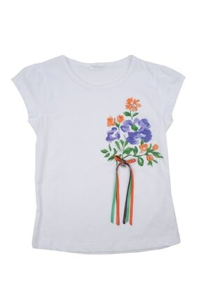Zeyland T-shirt Kız Çocuk Beyaz