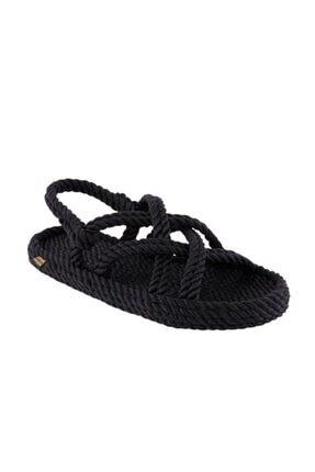 Nomadic Republic Bodrum Erkek Halat Sandalet - Siyah