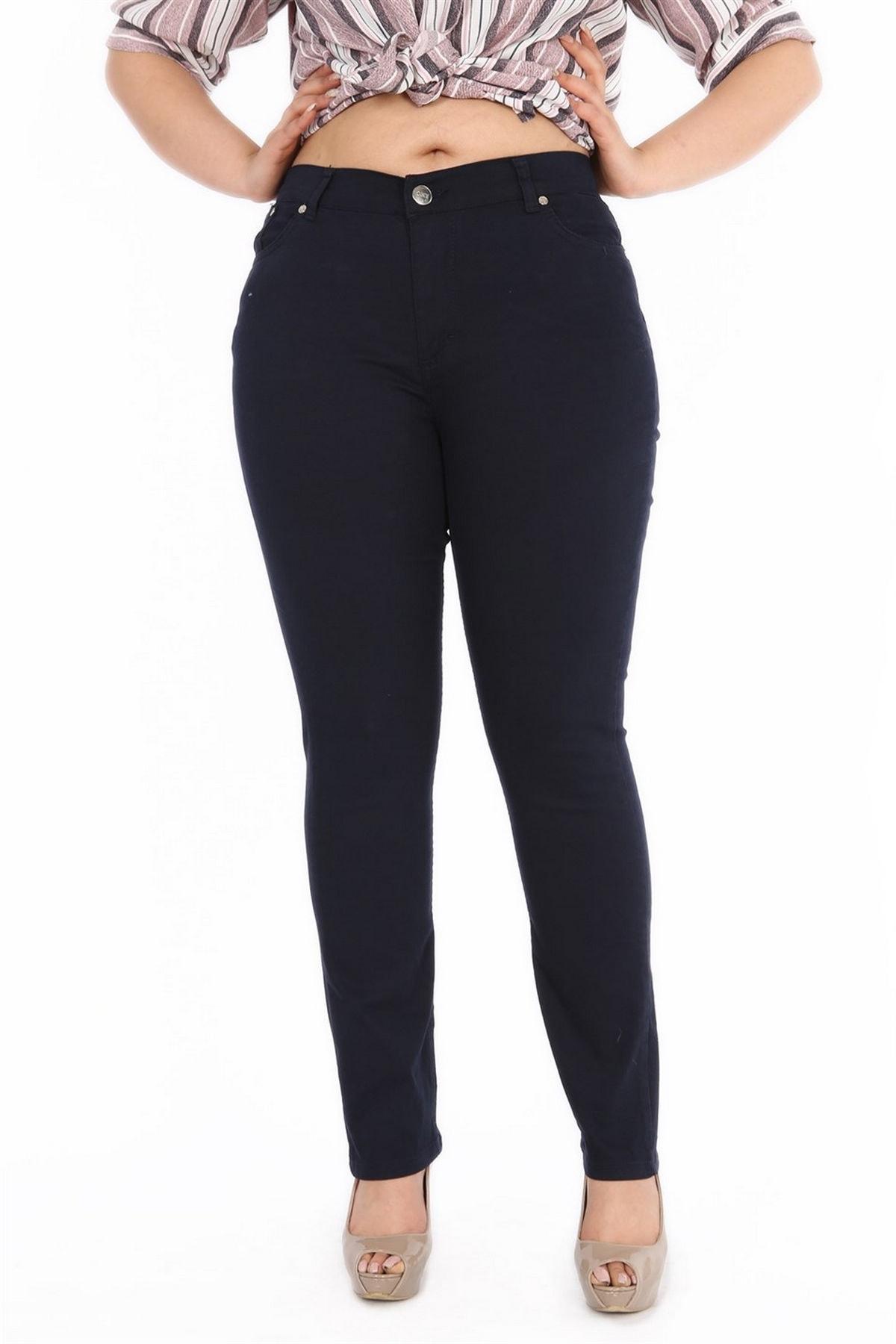 RMG Kadın Pantolon Rg1029kb Jean Battal Yüksek Bel Düz Paç 1