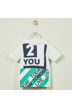 Panço T-shirt Erkek Çocuk Beyaz