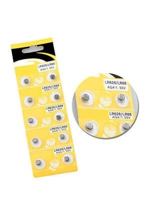 Pi İthalat Saat Pili - Düğme Pil 10lu Paket Lr626-lr66 Ag4-1.55v