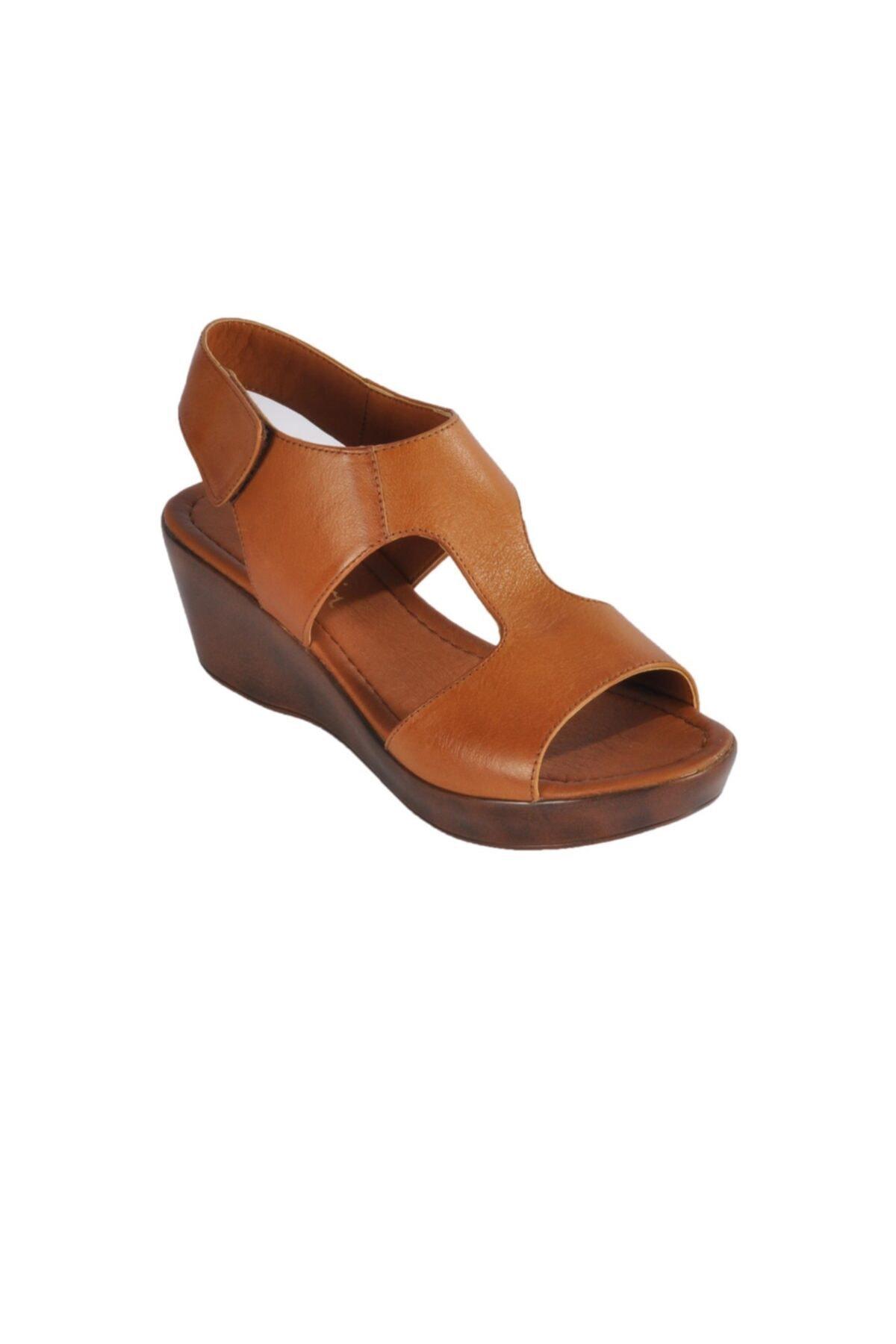 Pierre Cardin Pc-2679 Z.sandalet Taba Kadın Sandalet 1