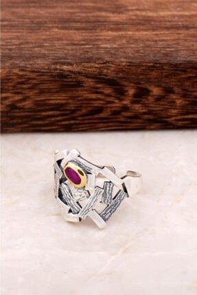 Sümer Telkari Çekiç Dövme Tasarım Gümüş Yüzük 2880