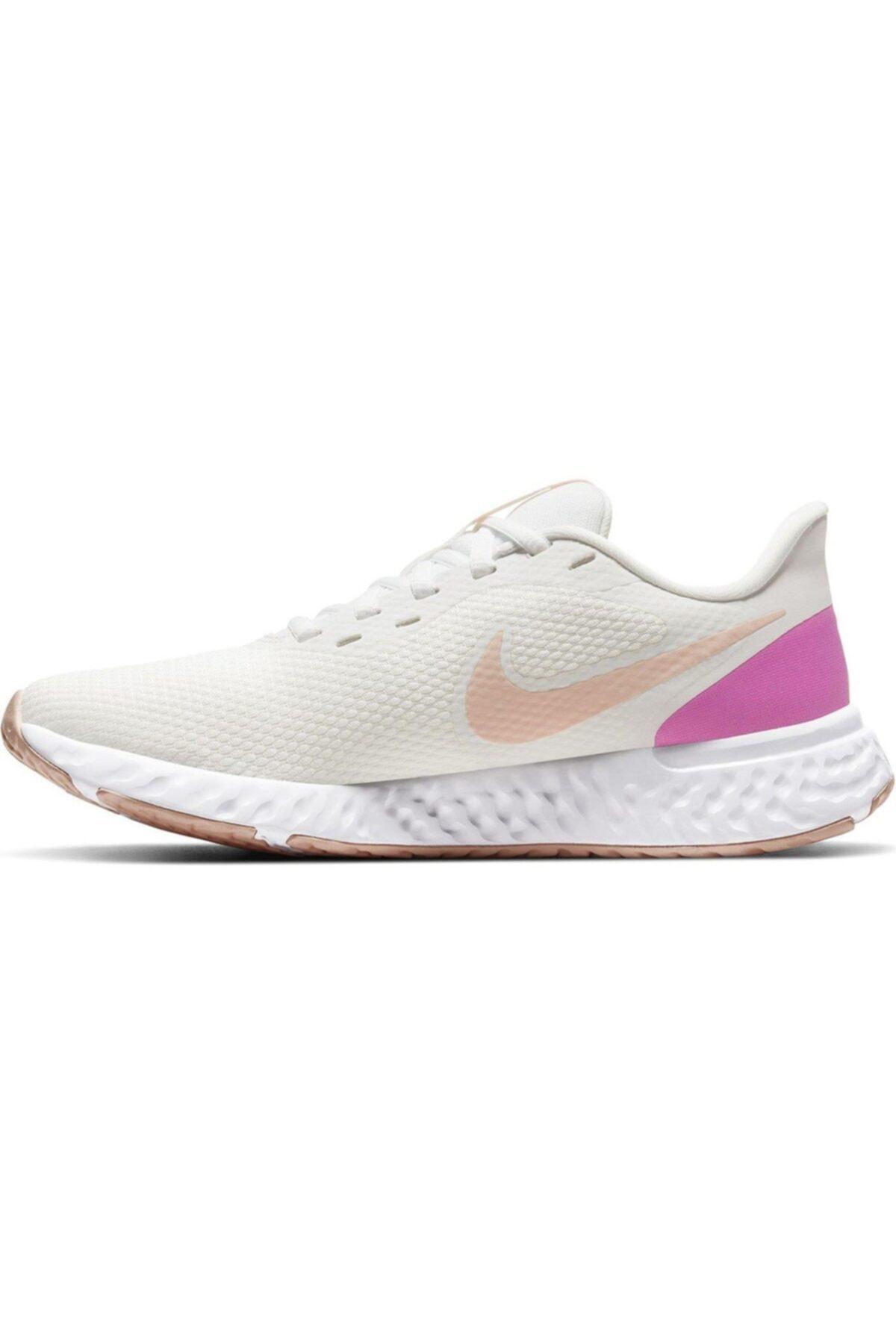 Nike Revolution 5 Kadın Beyaz Koşu Ayakkabısı Bq3207-103 2