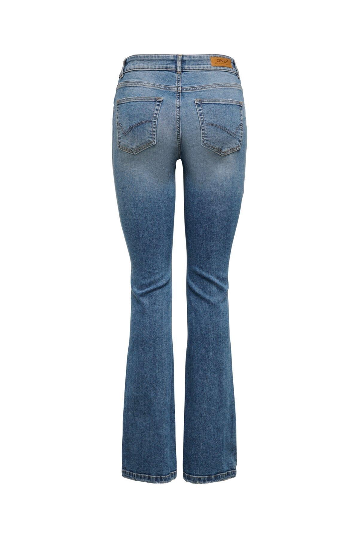 Only Onlhush Life Mıd Flored Bb Dot0003 Jeans 15208314 2