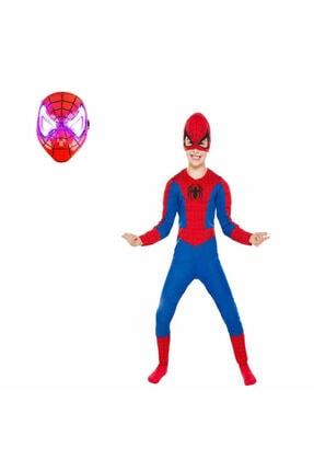 SPIDERMAN Işıklı Spiderman Kostümü Örümcek Adam Kostüm