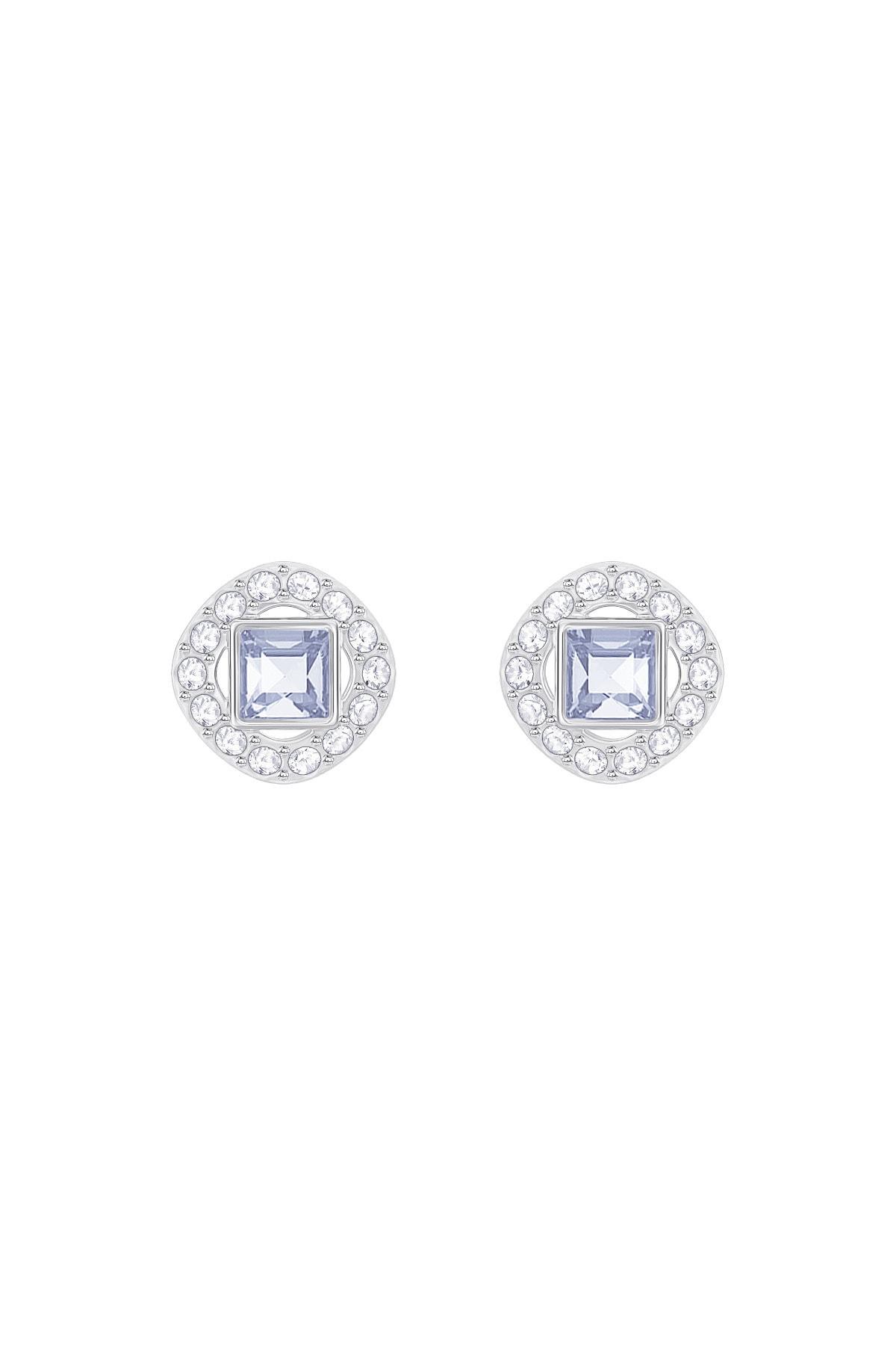 Swarovski Kadın Gümüş Zirkon Taşlı Küpe Angelic Square:pe Lsap/cry/rhs 5352048 1