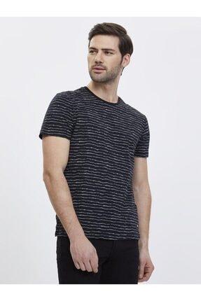 Loft Erkek Çizgi Detaylı Slim Fit Tişört