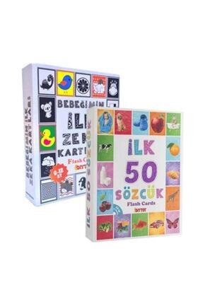 DIY Toys Diytoy Flash Cards Ilk 50 Sözcük + Bebeğimin Ilk Zeka Kartları /