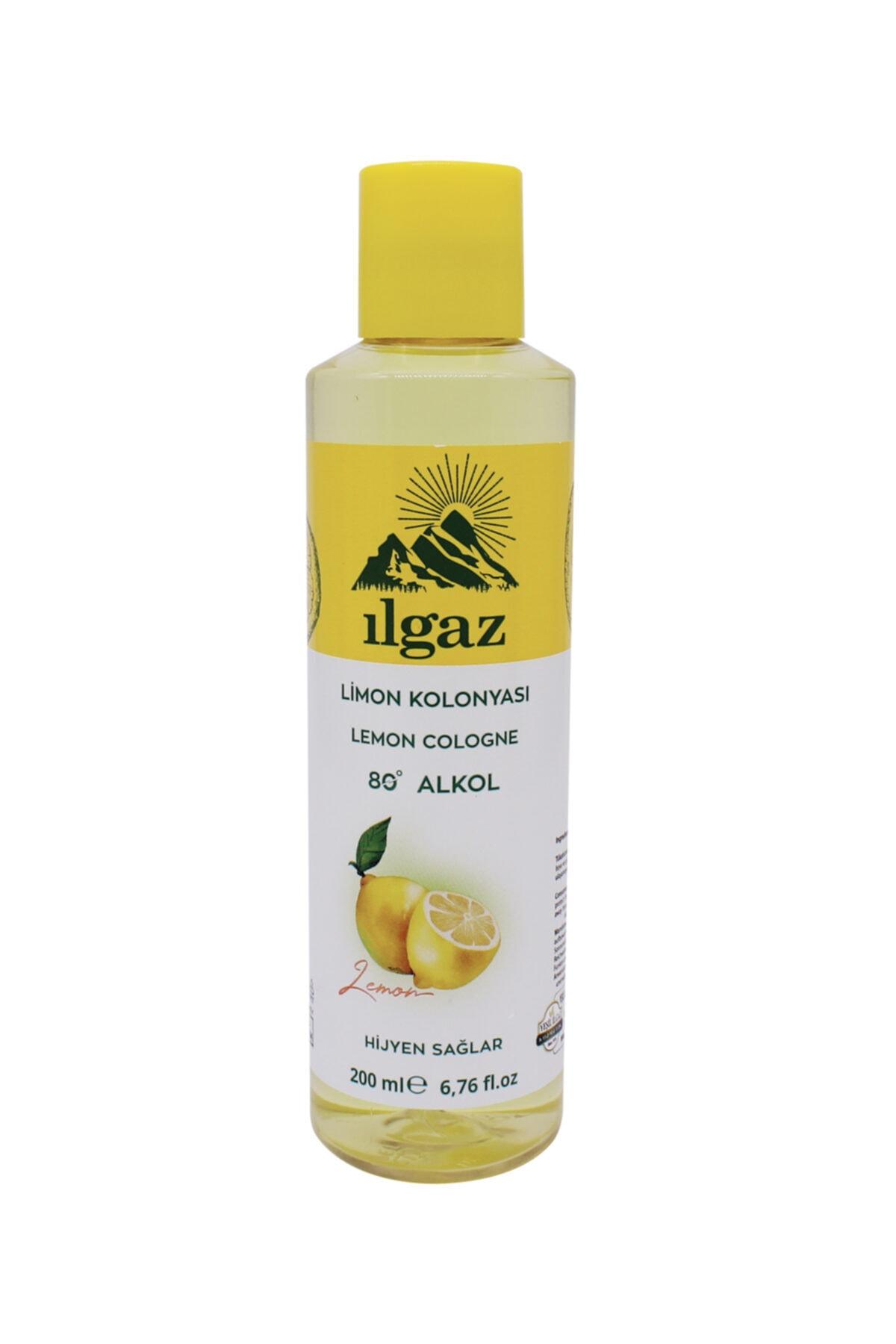 ILGAZ Limon Kolonyası 2x200 ml +1000 ml Bidon Limon Kolonyası Doldurulabilir Huni Kapak Kolonya Seti 2