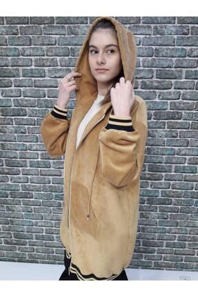 Loreen Kadın Sarı Kopüşonlu Tunik
