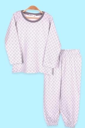 Breeze Erkek Çocuk Pijama Takımı Desenli Ekru (2-6 Yaş)