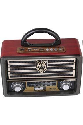 Meir Eskitme Nostalji Tasarımlı Bluetoothlu Nostalji Radyo 113bt