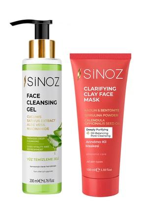 SİNOZ Yüz Temizleme Jeli+arındırıcı Kil Maskesi 2'li Bakım Paketi