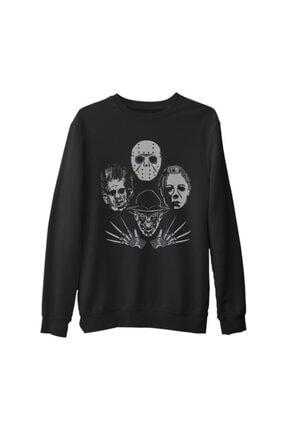 Lord T-Shirt Unisex Siyah Kings Of Horror Kalın Sweatshirt