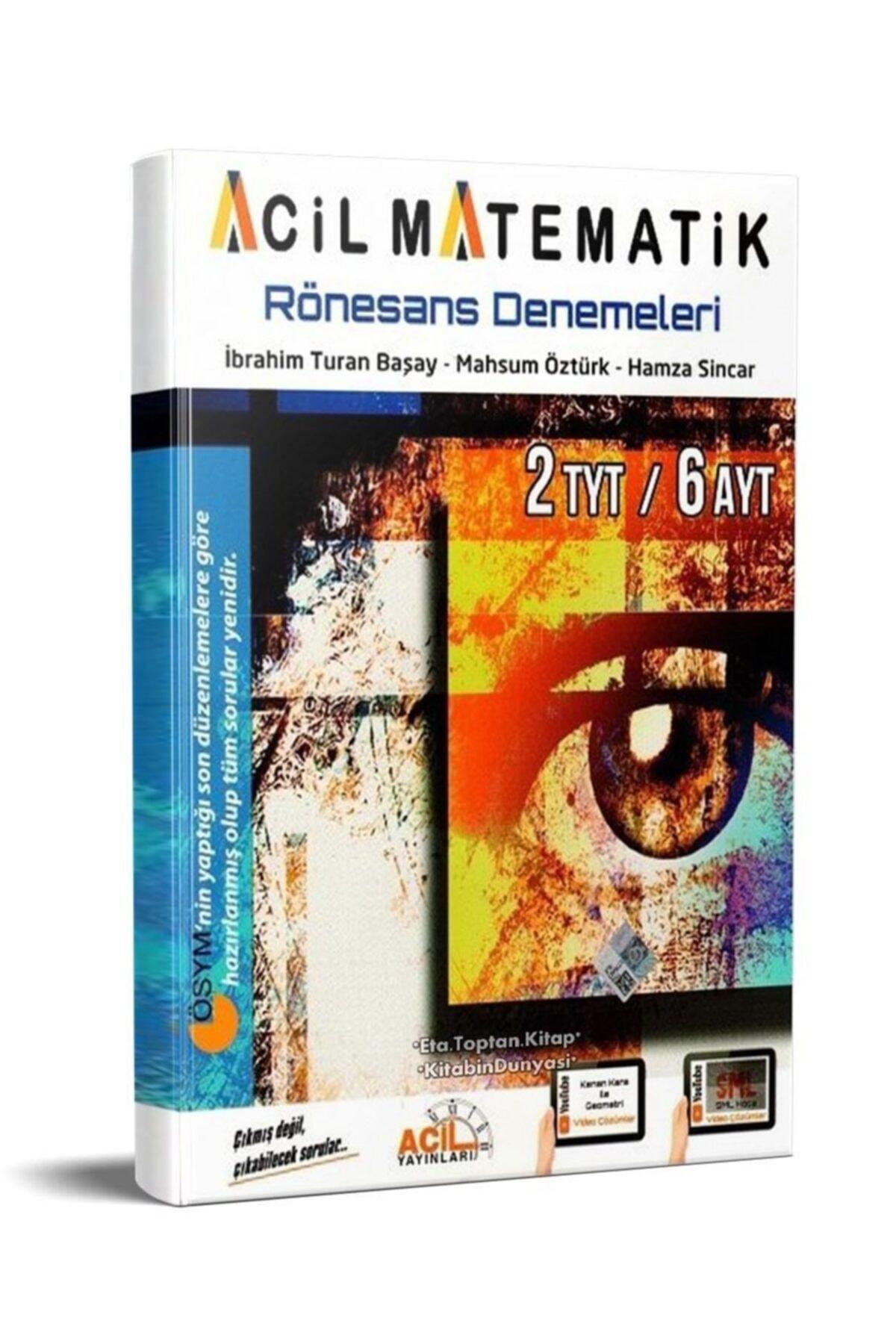 Acil Yayınları Tyt Ayt Acil Matematik Rönesans Denemeleri 2020 1